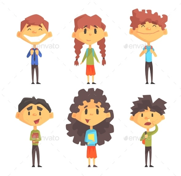 Disciples of Elementary School. - People Characters