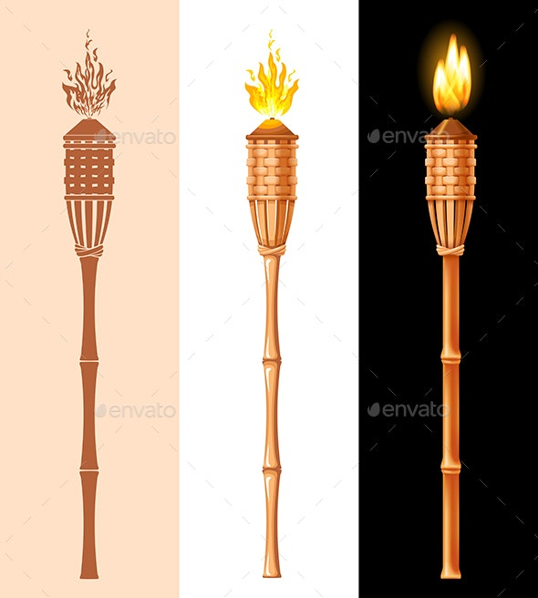 Bamboo Torch - Man-made Objects Objects