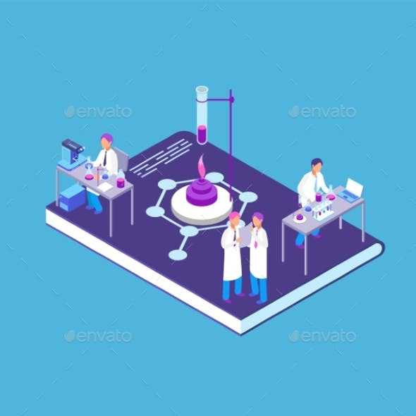 Chemistry Pharmaceutical Isometric Concept