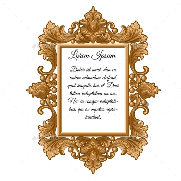 Ornate Vintage Frame with Space for Your Text - Borders Decorative