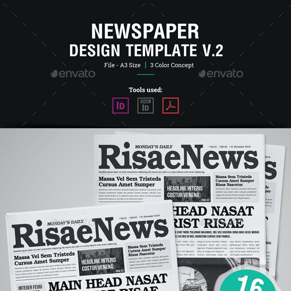16 Page Newspaper Design v2