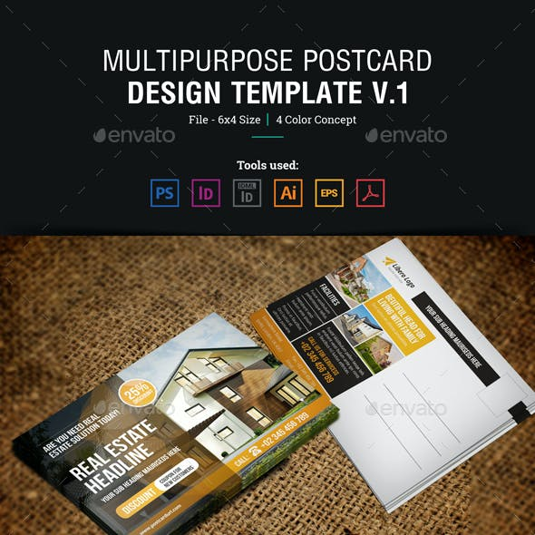 Multipurpose Postcard Design v1