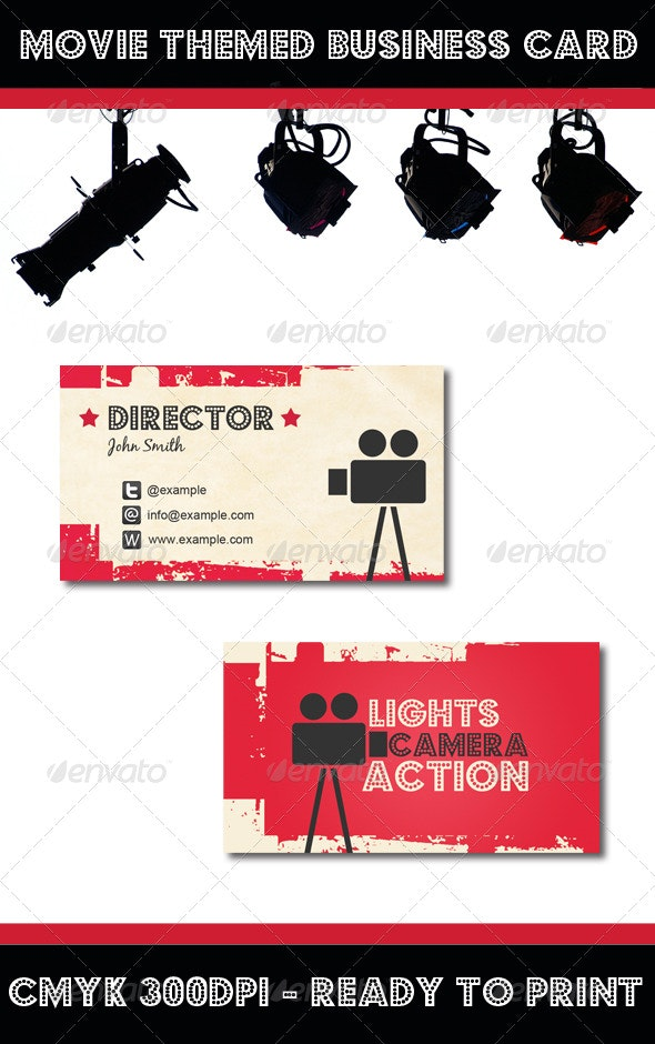 Movie Themed Business Card - Industry Specific Business Cards