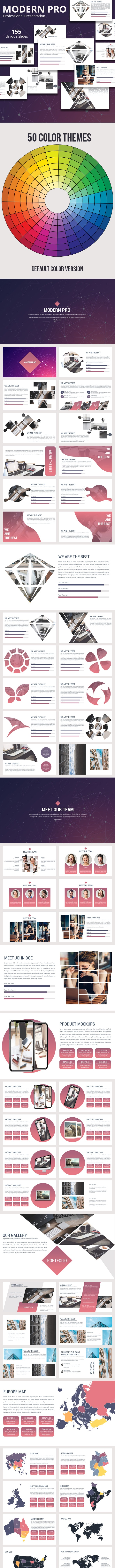Modern Pro Powerpoint Presentation Template - Business PowerPoint Templates