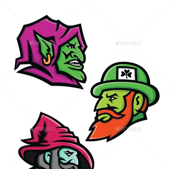 Goblin Leprecahun and Wizard Mascot Collection