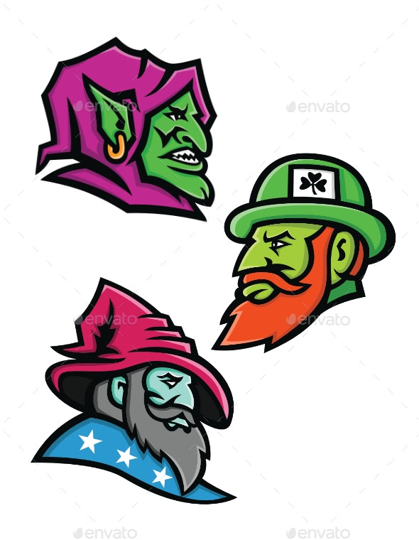 Goblin Leprecahun and Wizard Mascot Collection - Miscellaneous Characters