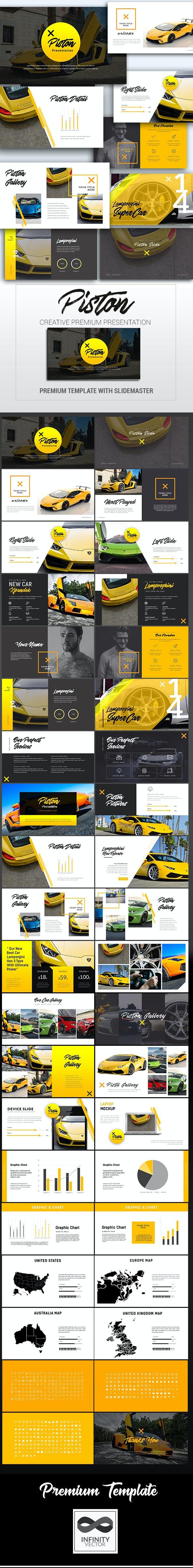 Piston Car Presentation Powerpoint - PowerPoint Templates Presentation Templates