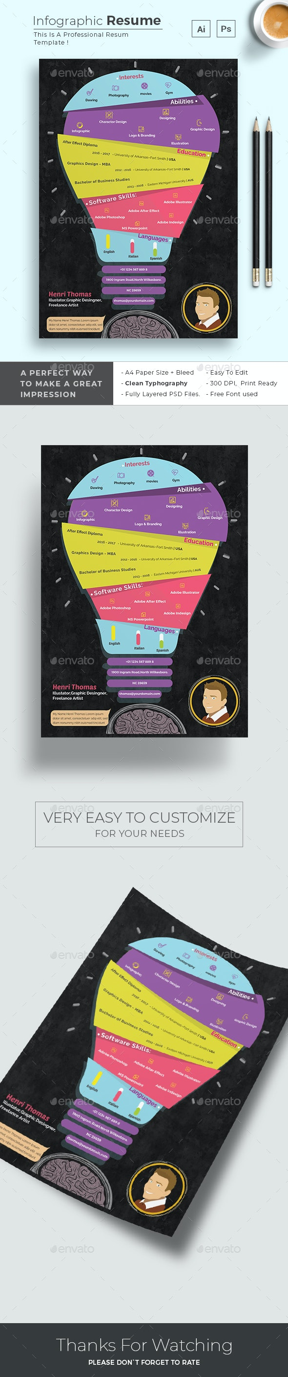 Infographic Resume - Resumes Stationery
