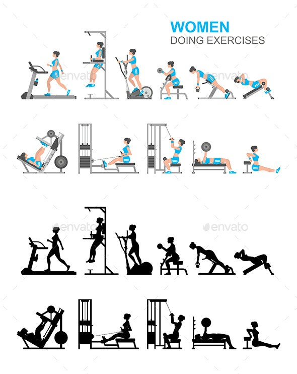Women Doing Exercises - Sports/Activity Conceptual