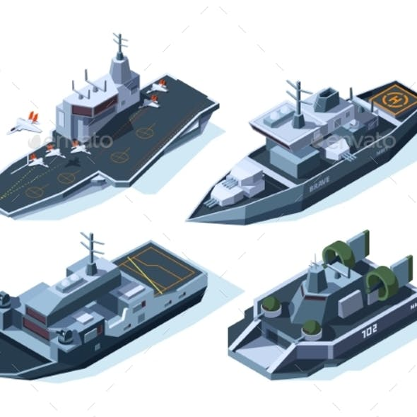 Military Boats Isometric