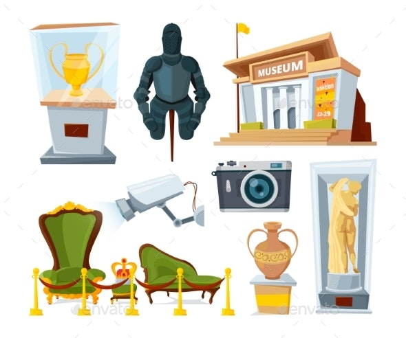 Historical Museum with Various Display Exhibit - Man-made Objects Objects