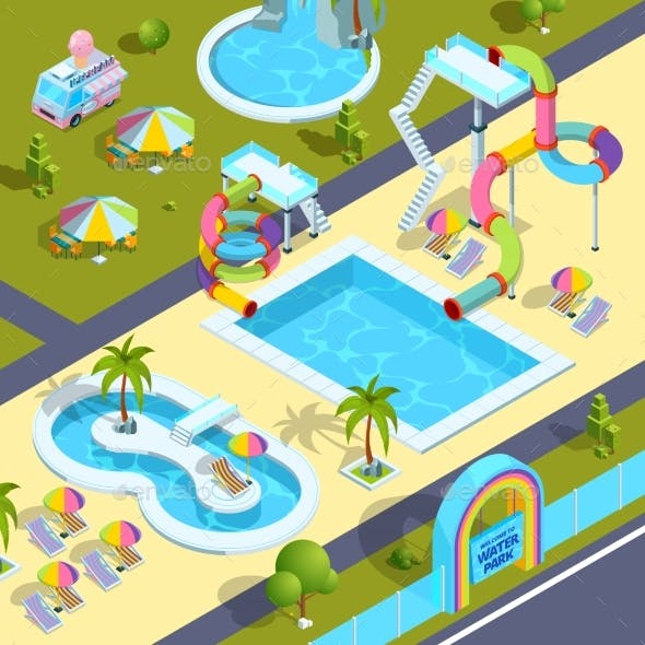 Pictures of Outdoor Attractions in Water Park