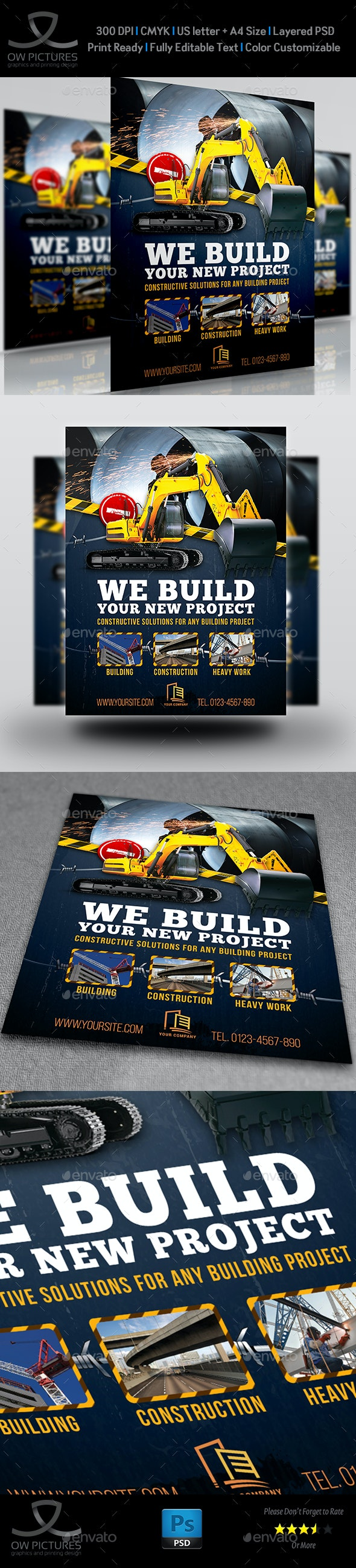 Construction Business Flyer Template Vol.7 - Corporate Flyers