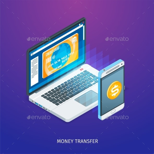 Money Transfer Concept - Computers Technology
