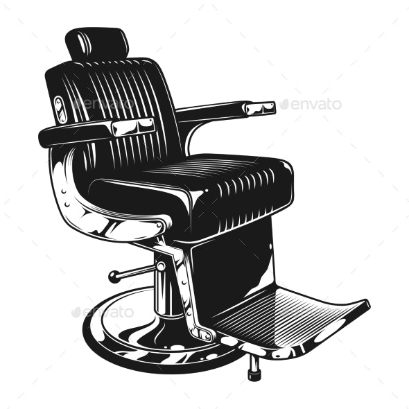 Vintage Barbershop Modern Chair Template - Man-made Objects Objects