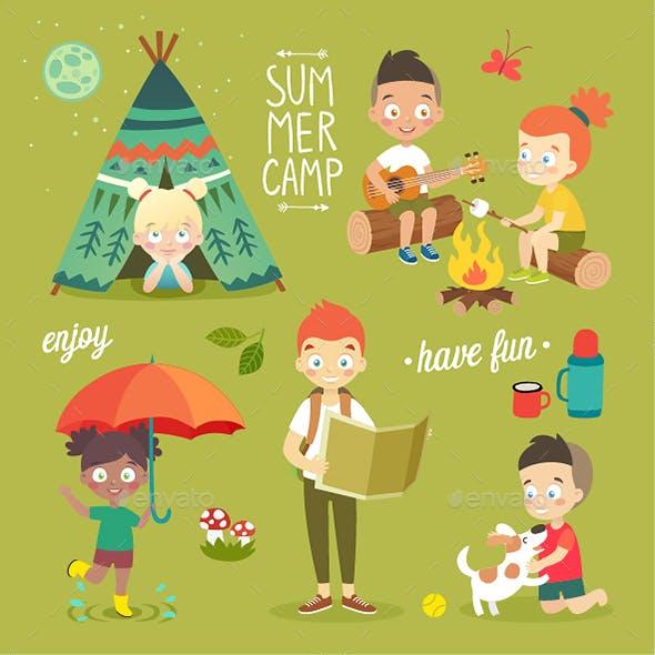 Summer Camp Kids Set