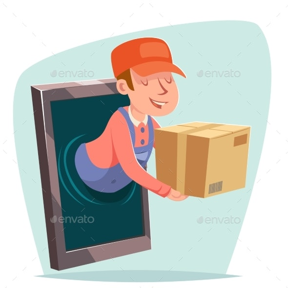 Smartphone Order Internet Delivery Purchase Goods - Services Commercial / Shopping