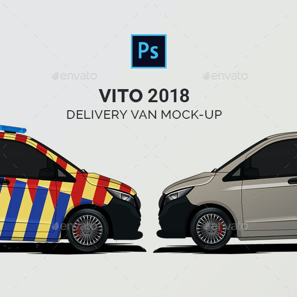 Vito 2018 Delivery Van Mock-Up
