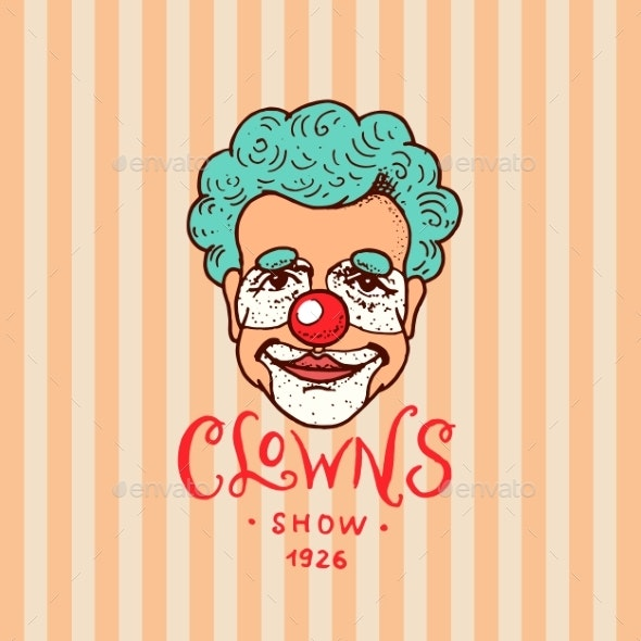 Circus Clown Badge - People Characters