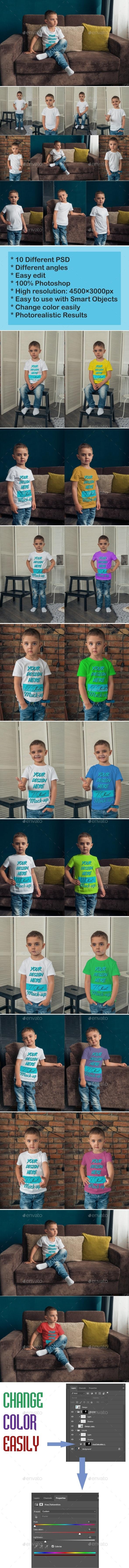 Kids T-Shirt Mockup - T-shirts Apparel
