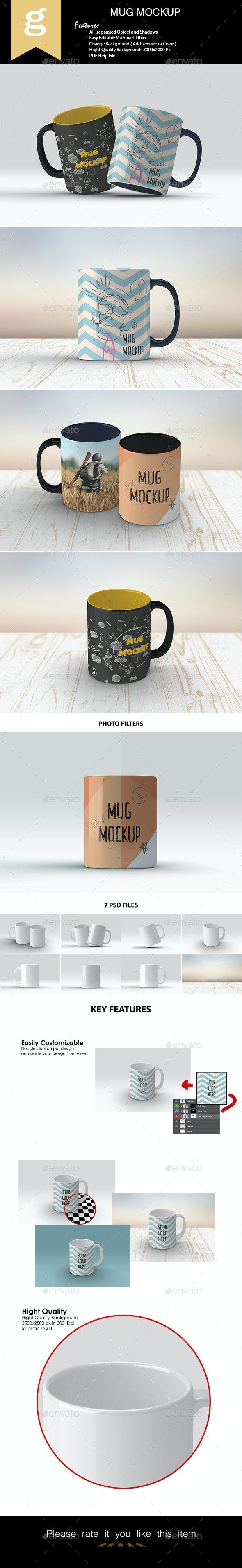 Mug Mock-Ups - Product Mock-Ups Graphics