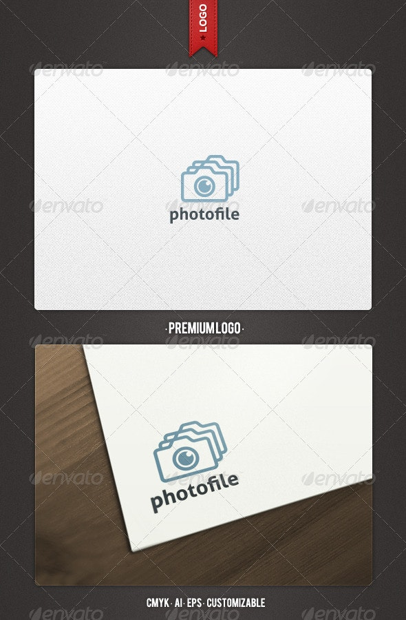 File and Slide Photography Logo Template - Objects Logo Templates