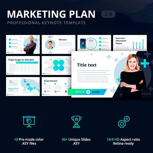 Marketing Plan 2.0 Template for Keynote