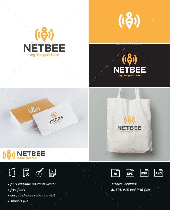 Net Bee Logo - Nature Logo Templates