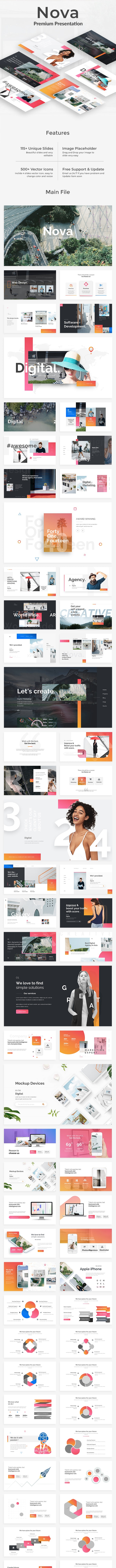 Nova Creative Project Powerpoint Template - Creative PowerPoint Templates