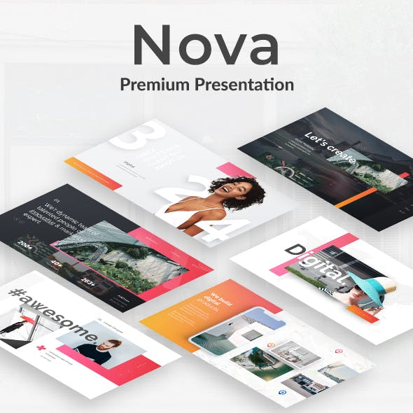 Nova Creative Project Powerpoint Template