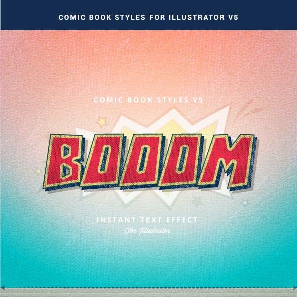Comic Book Styles for Illustrator V5