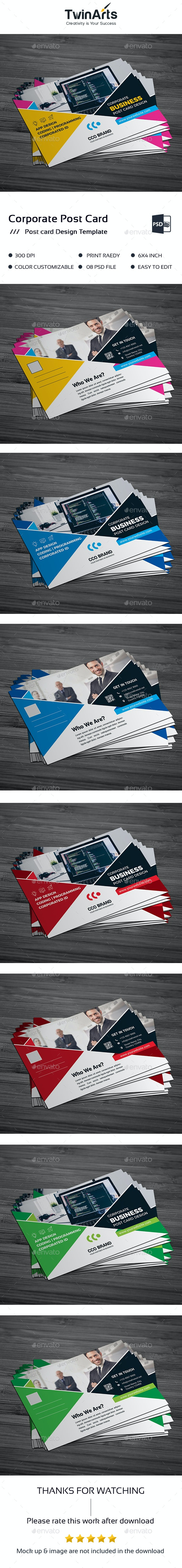 Post Card Design - Flyers Print Templates
