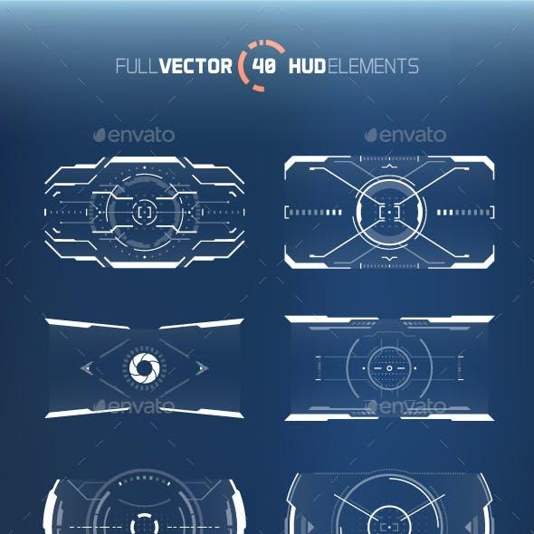 40 Hi-tech HUD Elements