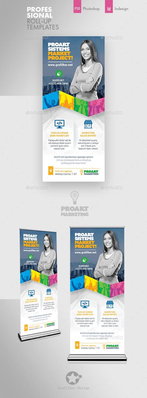 Marketing Roll-Up Templates - Signage Print Templates