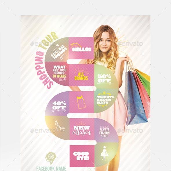 Shopping Tour Flyer Template