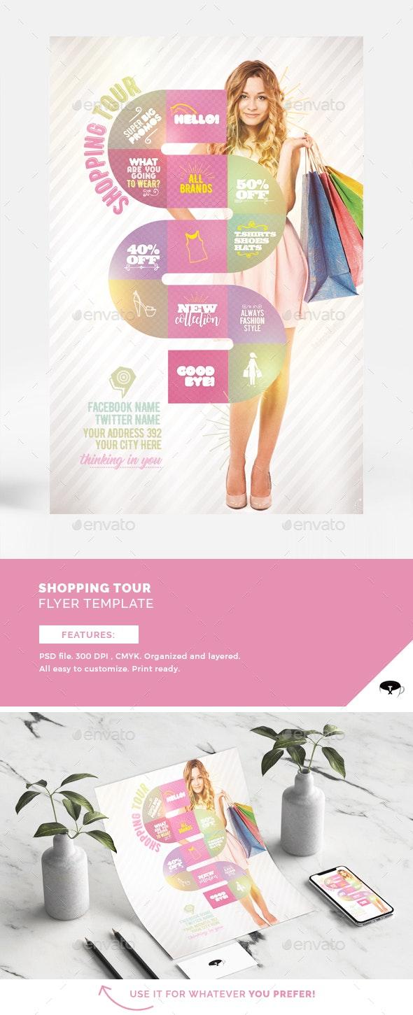 Shopping Tour Flyer Template - Flyers Print Templates