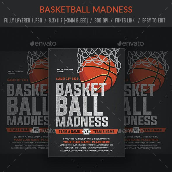 Basketball Madness Flyer Poster