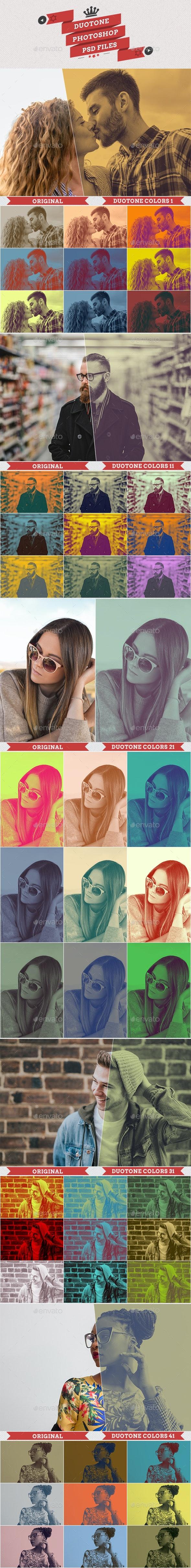Duotone Colors PSD - Artistic Photo Templates