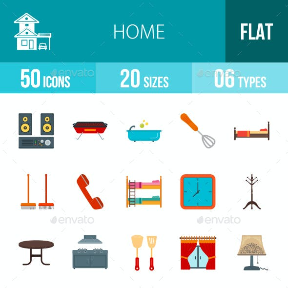 Home Flat Multicolor Icons