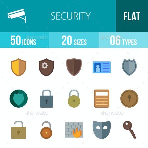 Security Flat Multicolor Icons