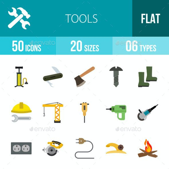 Tools Flat Multicolor Icons