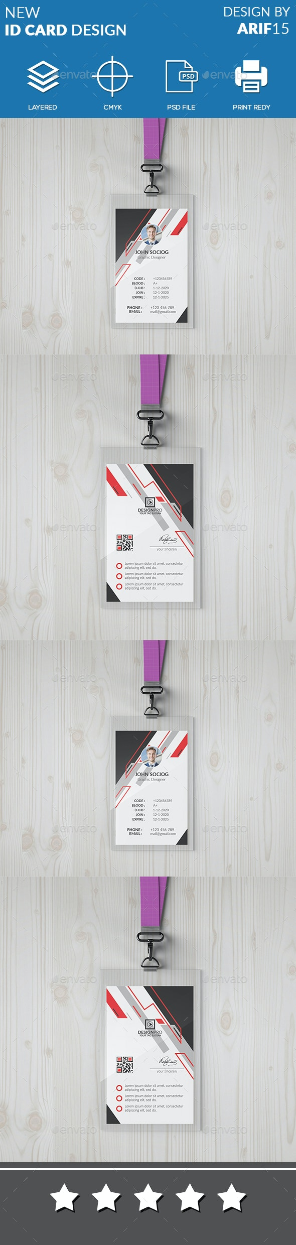 ID Card - Miscellaneous Print Templates