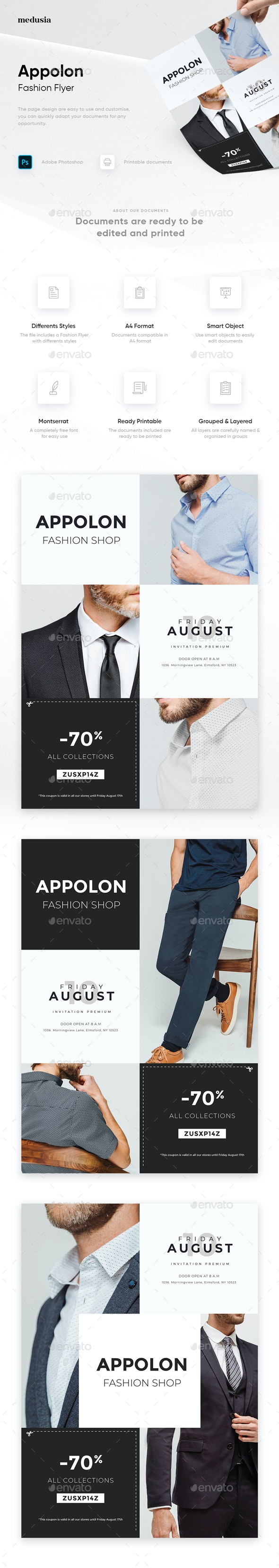 Appolon - Fashion Flyer - Flyers Print Templates