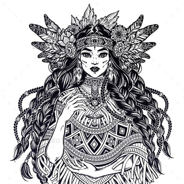 Native American Indian Woman Ethnic