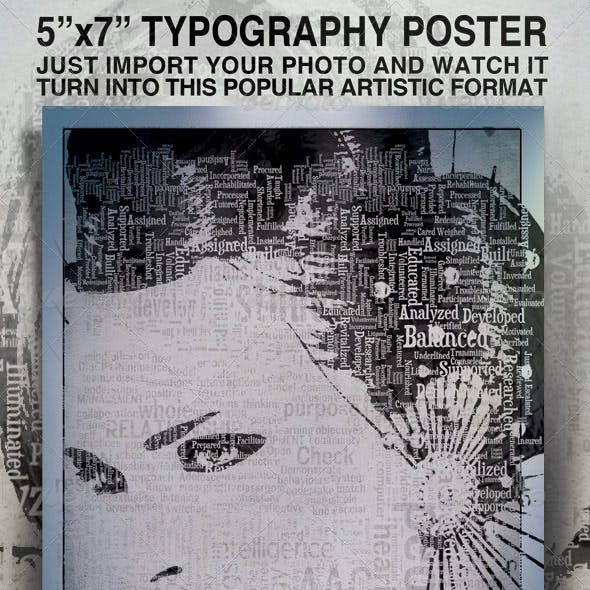 Typography Flyer, Easy To Modify - 5x7
