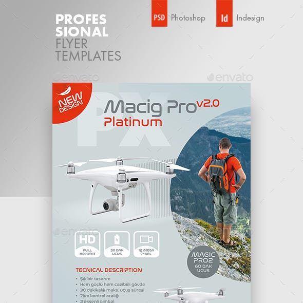 Drone Technology Flyer Templates