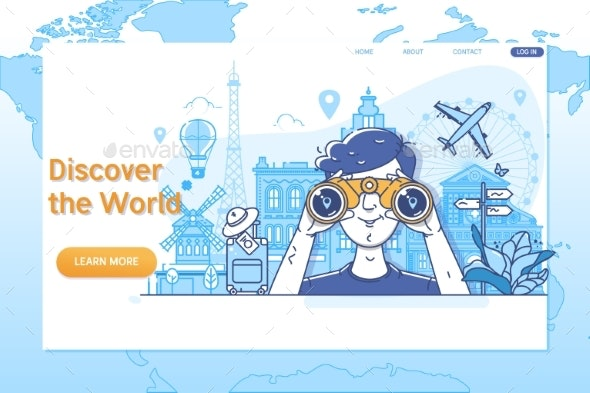 Discover the World - Travel Conceptual