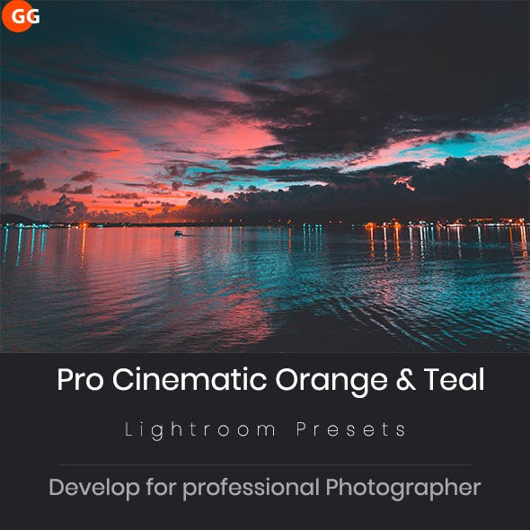 20 Pro Cinematic Orange & Teal Look Lightroom Preset