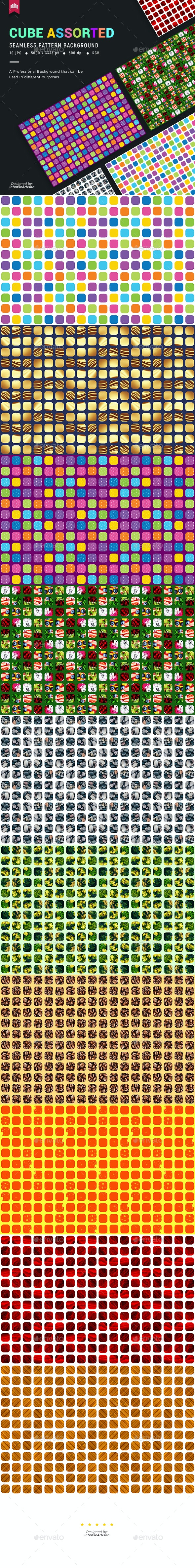 Cube Abstract Seamless Pattern Backgrond - Patterns Backgrounds