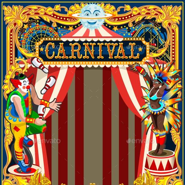 Carnival Poster Circus Theme